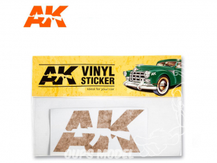 Ak Interactive AK9092 Sticker vinyle Orange
