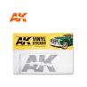 Ak Interactive AK9093 Sticker vinyle Noir