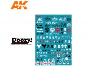Ak Interactive Doozy DZ034 Assortiment de décalques post-apocalyptiques 1/24