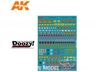 Ak Interactive Doozy DZ035 Assortiment de décalques signalétique carburant 1/24