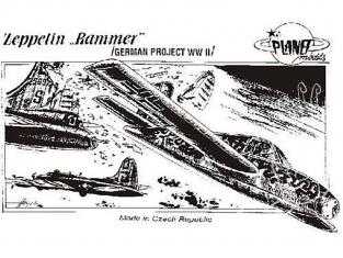 Planet Model PLT029 Zeppelin Rammer full resine kit 1/48