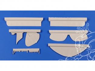 Cmk kit d'amelioration 4408 DH.82 Tiger Moth Surfaces de contrôle pour kit Airfix 1/48