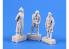 Cmk figurine F72365 He 162 Trois figurines de pilote chacune dans un équipement différent 1/72