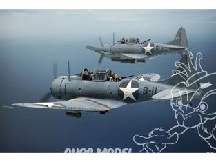 Brengun maquette avion BRP144014 SBD-3 Dauntless MIDWAY 1/144
