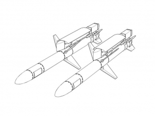 Brengun kit amelioration avion BRL32040 AGM-45 Shrike (2piéces) 1/32