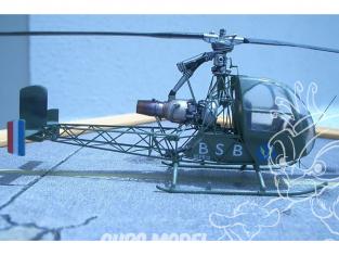 Brengun maquette helicoptére BRS72017 SNCASO SO-1221 Djinn en resine 1/72