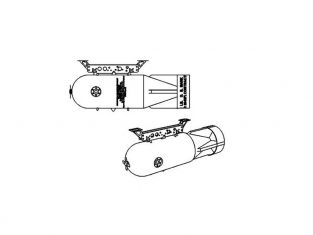 Brengun armement avion BRL48134 Charge de profondeur MKXVII 1/48