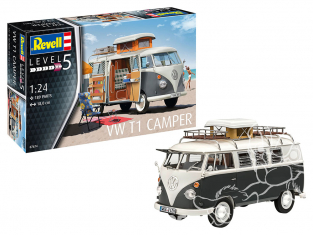 Revell maquette voiture 07674 VW Combi T1 Camper 1/24