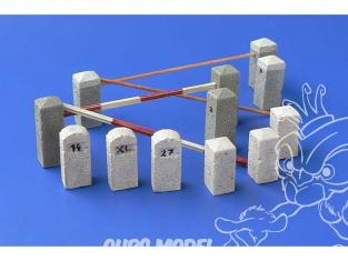 Hauler accessoires diorama HLX48397 Bornes en pierre 1/48