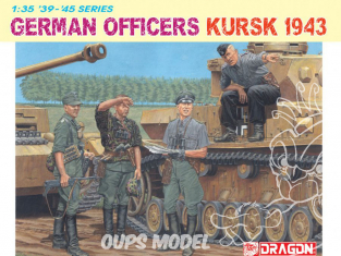 dragon maquette militaire 6456 Officiers allemands Koursk 1943 1/35