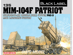 Dragon maquette militaire 3563 MIM-104F PATRIOT SYSTÈME DE MISSILE SURFACE-AIR STATION PAC-3 M901 1/35