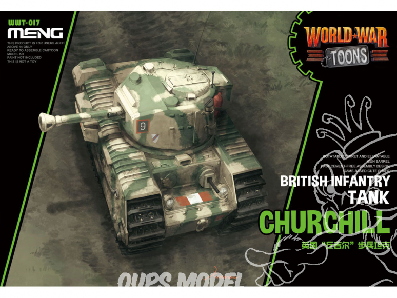 Meng maquette militaire WWT-017 La bête britannique lourdement blindée SERIE WORLD WAR TOON