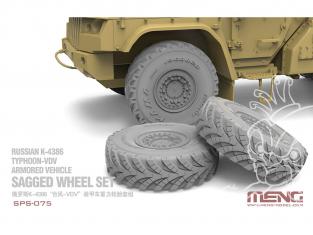 Meng maquette voiture SPS-075 Détails indispensables pour Typhoon Roues resine 1/35