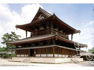 Fujimi maquette bâtiment 50019 Horyuji Kondo 1/150