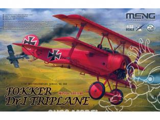 Meng maquette avion QS-002 Le triplan du Baron Rouge fait son entrée 1/32