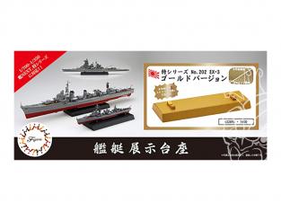 Fujimi maquette accessoires bateau 432892 Support bateau Or 1/700 - 1/350