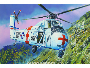 Trumpeter maquette hélicoptére 02883 CH-34 US ARMY Rescue 1/48