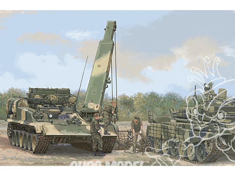TRUMPETER maquette militaire 09554 Véhicule blindé de dépannage russe BREM-1M 1/35