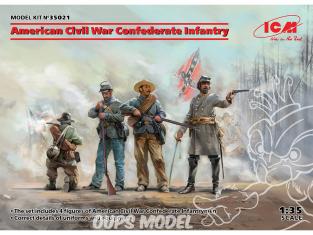 Icm maquette figurines 35021 Infanterie confédérée de la guerre civile américaine 100% nouveaux moules 1/35