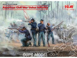 Icm maquette figurines 35020 Infanterie de l'Union de la guerre civile américaine 100% nouveaux moules 1/35
