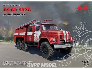 Icm maquette militaire 35519 AC-40-137A, camion de pompier soviétique (100% nouveaux moules) 1/35