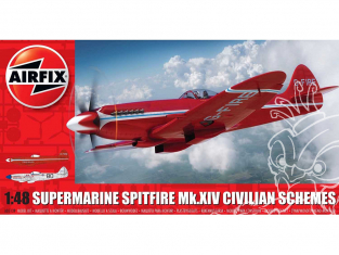Airfix maquette avion A05139 Schémas civils Supermarine Spitfire MkXIV 1/48