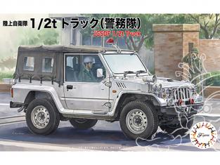 Fujimi maquette militaire 723044 4x4 1/2t JGSDF Police 1/72