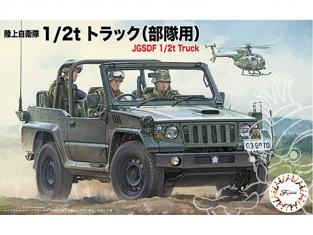 Fujimi maquette militaire 723037 4x4 1/2t JGSDF 1/72