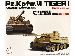 Fujimi maquette militaire 723112 Tigre I Early version Pz.Kpfw.VI 1/72