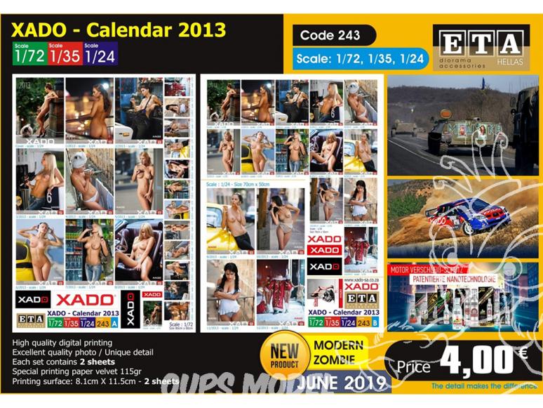 ETA diorama 243 Xado calendrier 2013 1/72 1/35 1/24