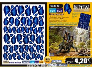 ETA diorama 121 Fantastique feuilles bleues 1/24 1/35