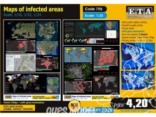 ETA diorama 196 cartes des zones infectées 1/35 1/32 1/24