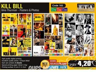 ETA diorama 183 Kill Bill Uma Thurman posters et photos 1/72 1/24 1/35