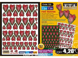 ETA diorama 122 Fantastique feuilles rouge 1/24 1/35
