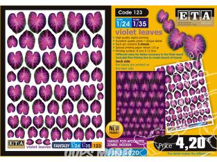 ETA diorama 123 Fantastique feuilles violette 1/24 1/35