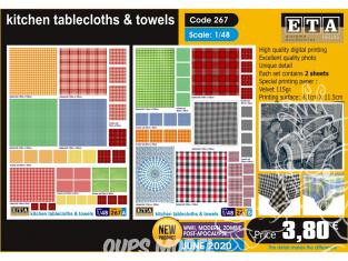 ETA diorama 267 Nappes et serviettes de cuisine 1/48