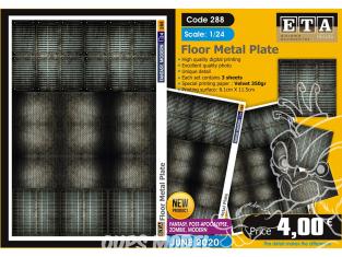 ETA diorama 288 Plaque métallique de plancher Moderne 1/24
