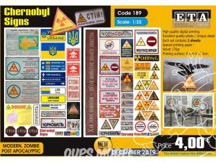 ETA diorama 189 Chernobyl panneaux 1/35