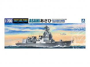 Aoshima maquette bateau 55670 Asahi Bateau de défense JMSDF Water Line Series 1/700