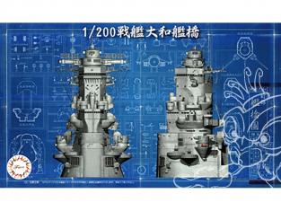 Fujimi maquette bateau 20341 Set bridge Yamato 1/200