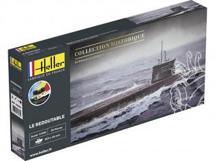 heller maquette sous marin 57075 STARTER KIT U-Boot S/M Redoutable 1/400