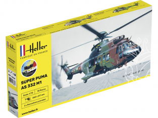 HELLER maquette helicopter 56367 STARTER KIT Super Puma AS 332 M0 1/72