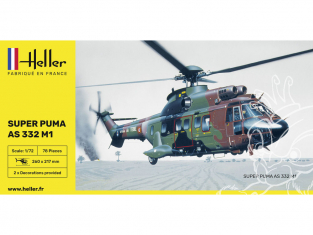 HELLER maquette helicoptere 80367 Super Puma AS 332 M0 1/72