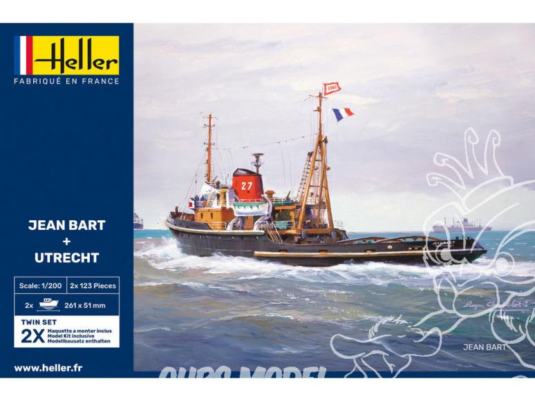 Heller maquette bateau 85602 JEAN BART + UTRECHT Twinset 1/200