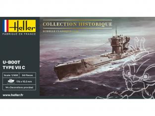 heller maquette sous marin 81002 U-Boot Type VII C 1/400