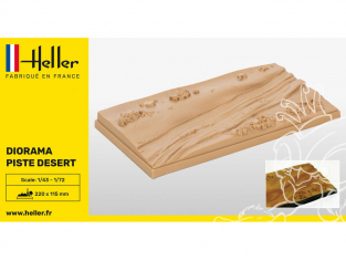 Heller maquette voiture 81253 PISTE DESERT 1/43 1/72