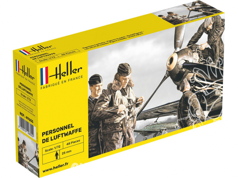 Heller maquette avion 49655 Nouveau boitage Personnel de Luftwaffe 1/72