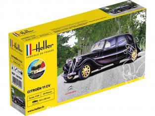HELLER maquette voiture 56159 STARTER KIT Citroen 11 CV 1/43