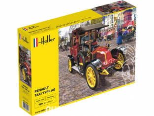HELLER maquette voiture 30705 Renault Taxi Type AG 1/24