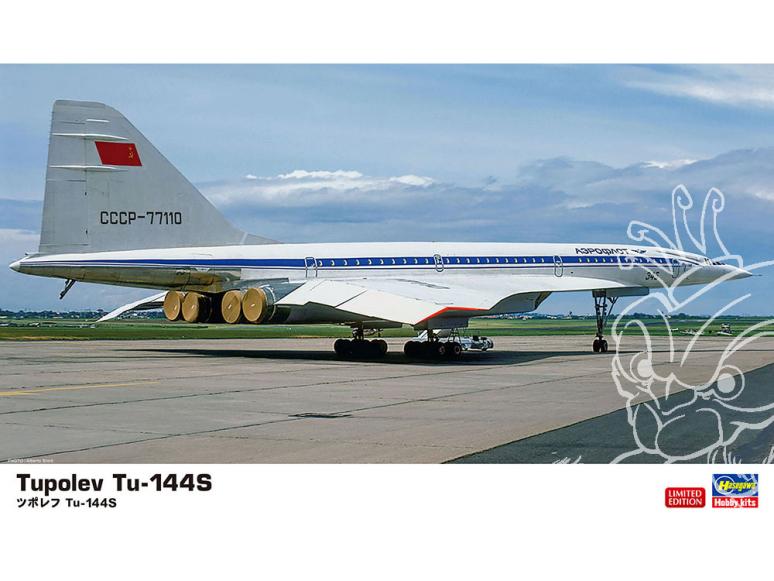 Hasegawa maquette avion 10837 Tupolev Tu-144S 1/200